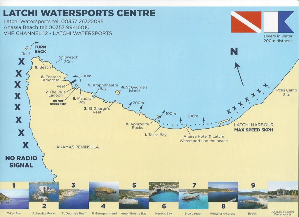 Akamas Coast Map
