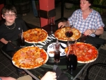 Pizzas at La Cantina